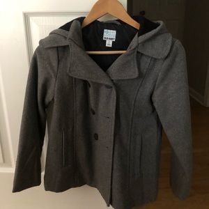 Kids Old Navy Gray Peacoat Size L